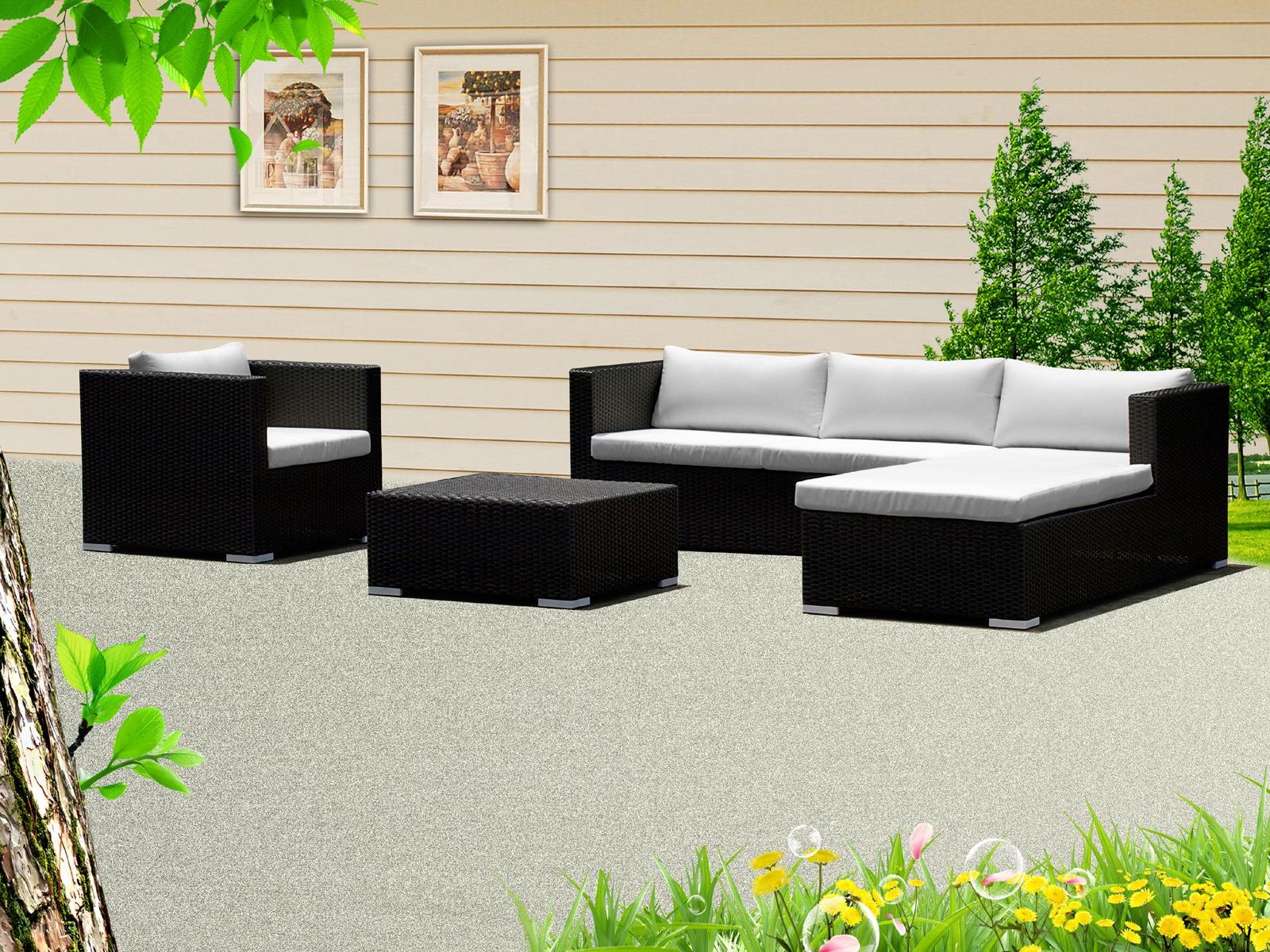 rattan liege preisvergleich die besten angebote online kaufen. Black Bedroom Furniture Sets. Home Design Ideas