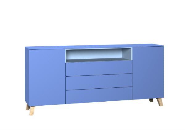 Sideboard / Kommode blau mit Nische garda living