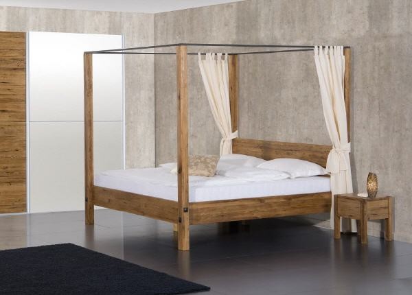 himmelbett holz 140x200 cheap kohtao himmelbett x koh tao. Black Bedroom Furniture Sets. Home Design Ideas